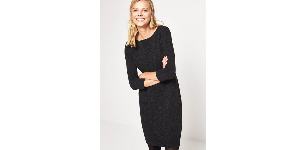 COMMA Elegantes 3/4-Arm Kleid in Rippenoptik Größte Anbieter Verkauf Online paAJM