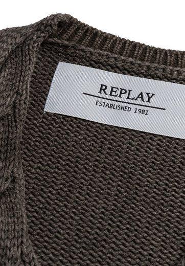 Replay Strickpullover im Oversize-Schnitt