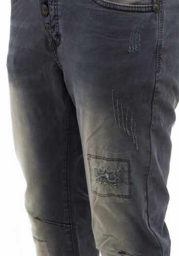 Blue Monkey Slim-fit-Jeans Phil 4405, mit individueller Waschung