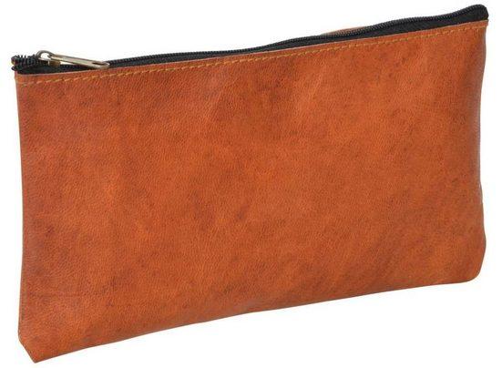 Gusti Leder Geldbörse »Lucy« (1-tlg), Schminktasche Reisetasche Dokumentenmäppchen Kosmetiktasche Utensilientasche