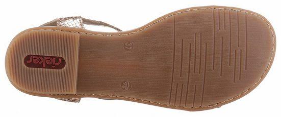 Sandale À Lanières Rieker, Aspect Métallique