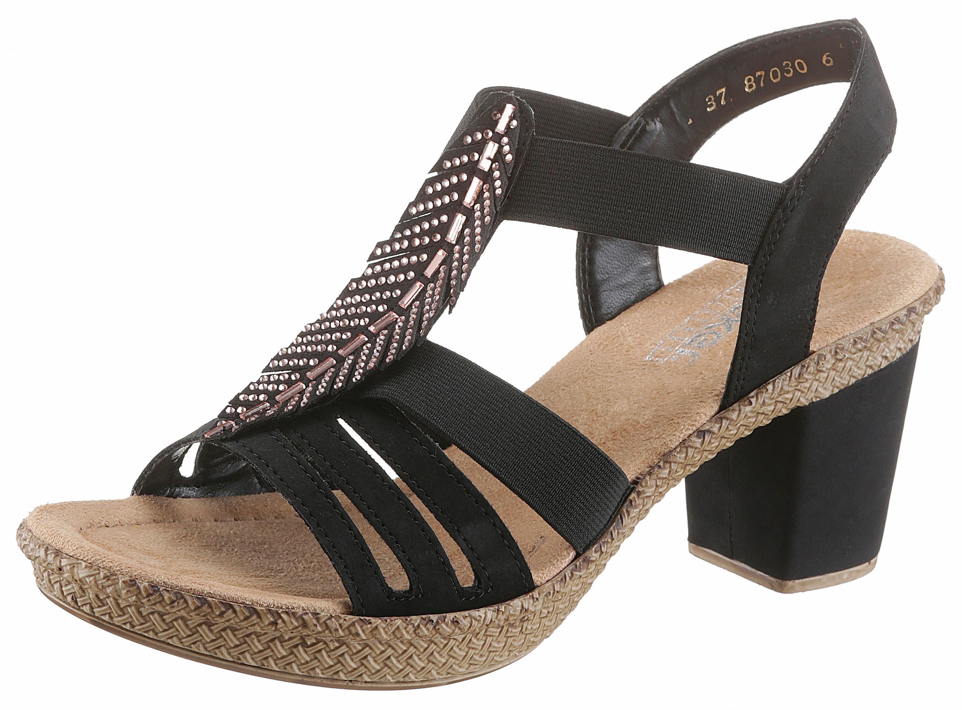 Sandalette Strass Steinchen Mit Rieker VerziertOtto 8nmONy0Pvw