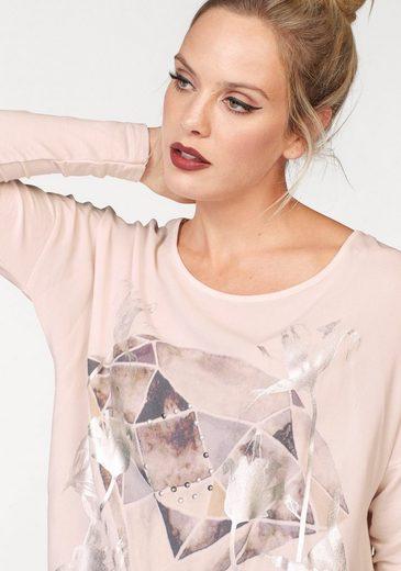 ZABAIONE Langarmshirt DIAMOND, mit Metallic Print
