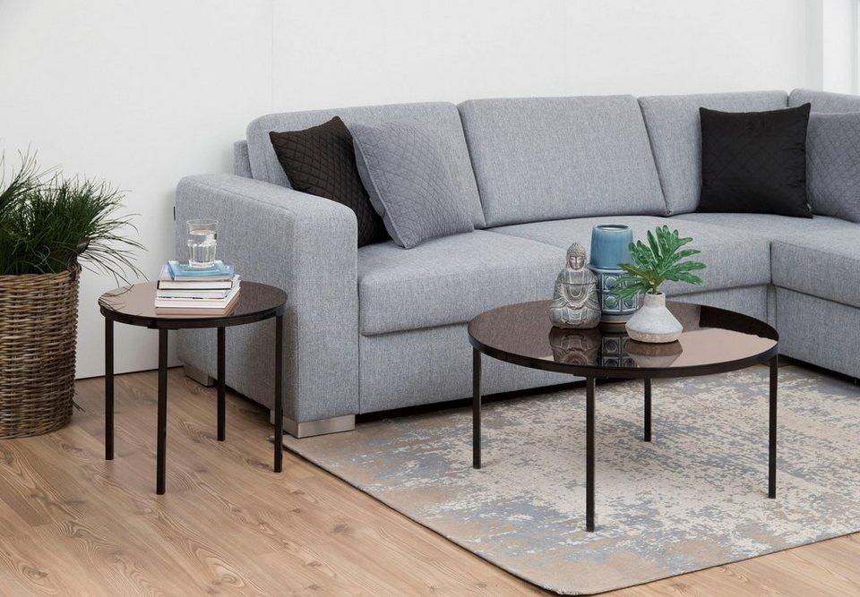andas couchtisch gaby mit sch nem metallgestell und edler bronzefarbiger. Black Bedroom Furniture Sets. Home Design Ideas