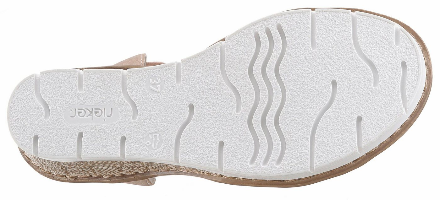 Damen Rieker Sandalette, mit Glitzerriemchen rosa | 04059954584926