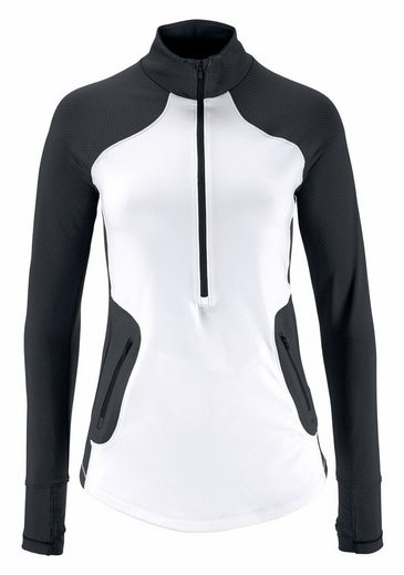 Under Armour® Funktionsshirt UA ARMOUR REACTOR 1/2 ZIP, mit Daumenlöchern