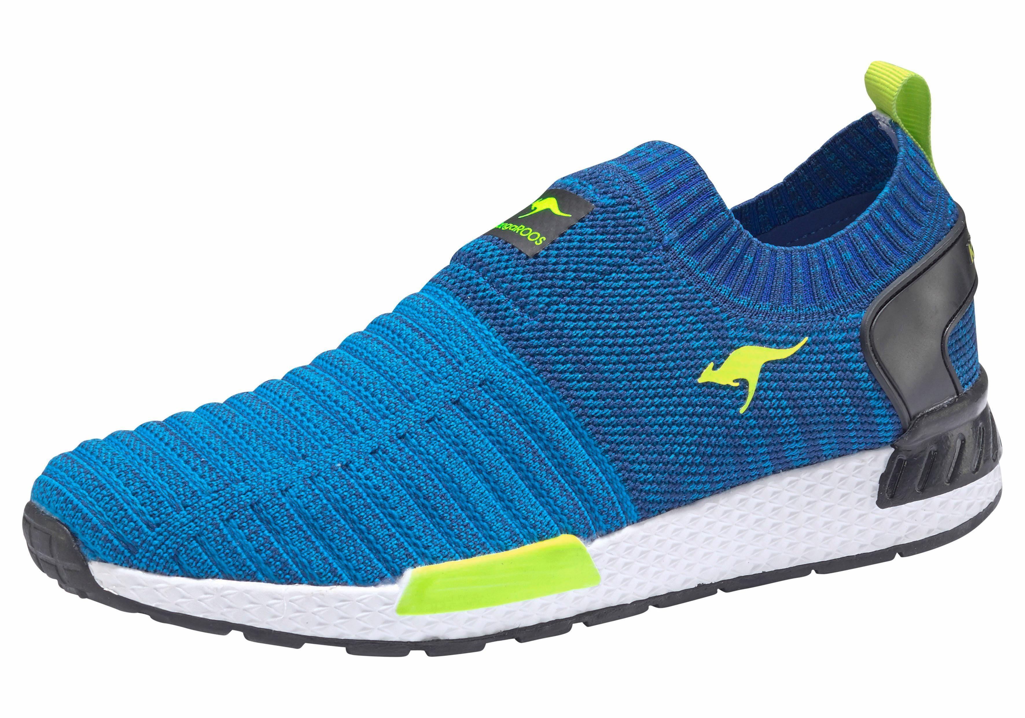 KangaROOS W 600 Sneaker online kaufen  blau-neongrün