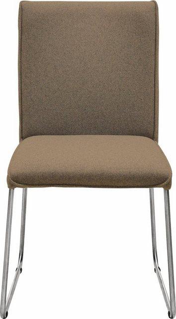 Stühle und Bänke - now! by hülsta Polsterstuhl »S 21« mit Kufengestell Edelstahl gebürstet  - Onlineshop OTTO