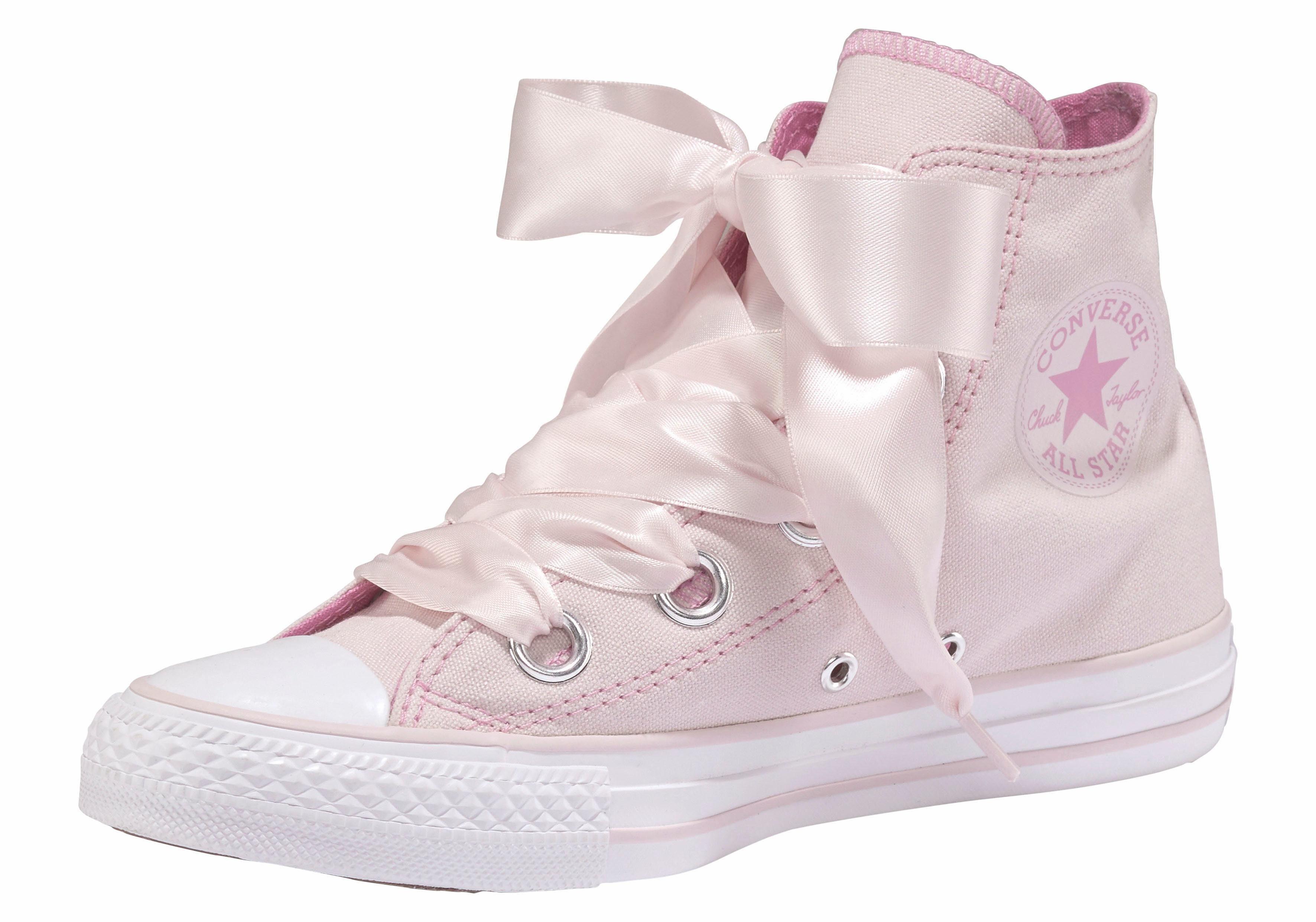 Converse Chuck Taylor All Star Hi Big Eyelet Sneaker, Satinschnürbänder online kaufen  rosa