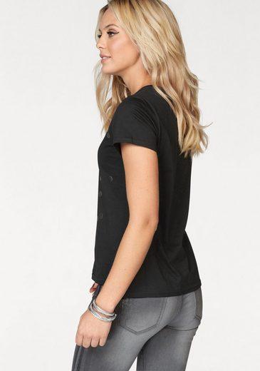 ZABAIONE T-Shirt HAPPY, Metallic-Print