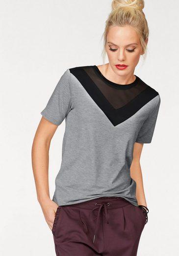Only T-Shirt SUZI, mit Mesheinsatz