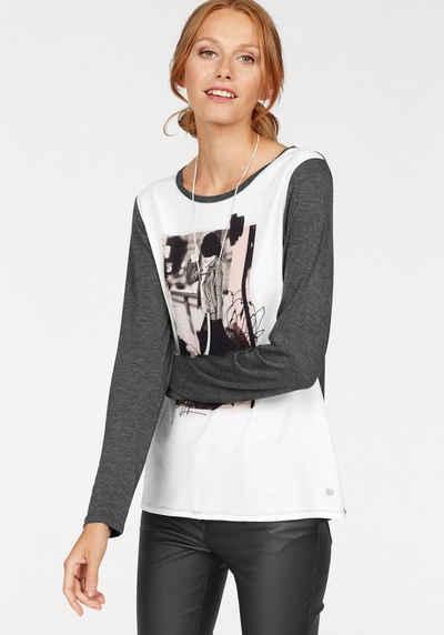 soyaconcept Langarmshirt »Biddi 4«, mit trendigem Frontprint