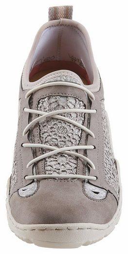 Rieker Slip-On Sneaker, mit Spitzen-Einsatz