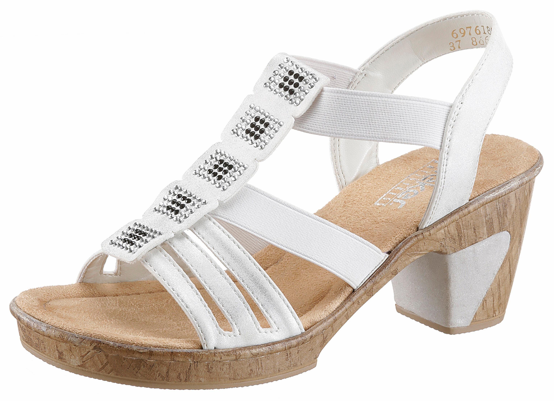 Rieker Sandalette, mit Glitzersteinchen kaufen  weiß