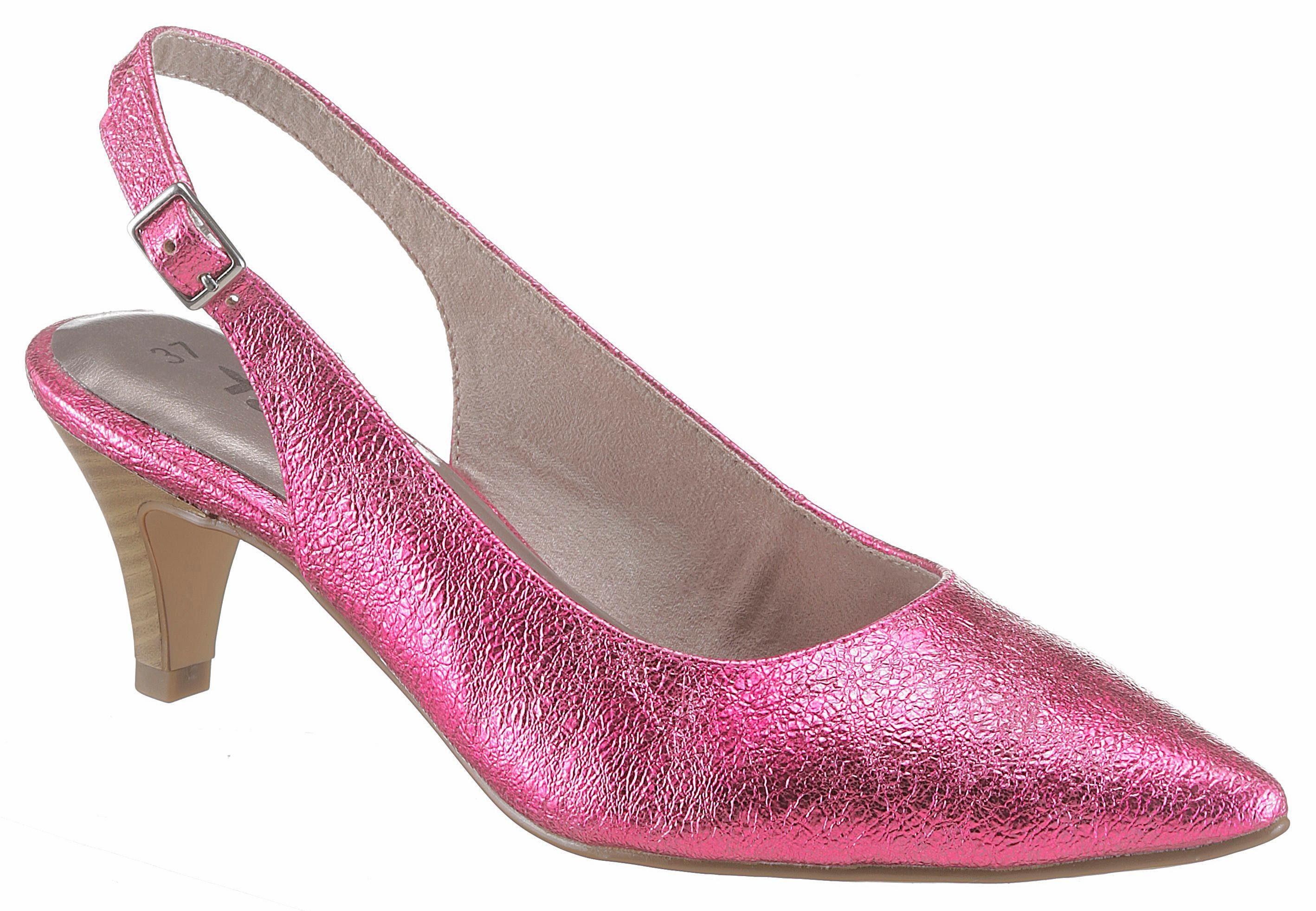 Tamaris Slingpumps, in spitzer Form online kaufen  pink