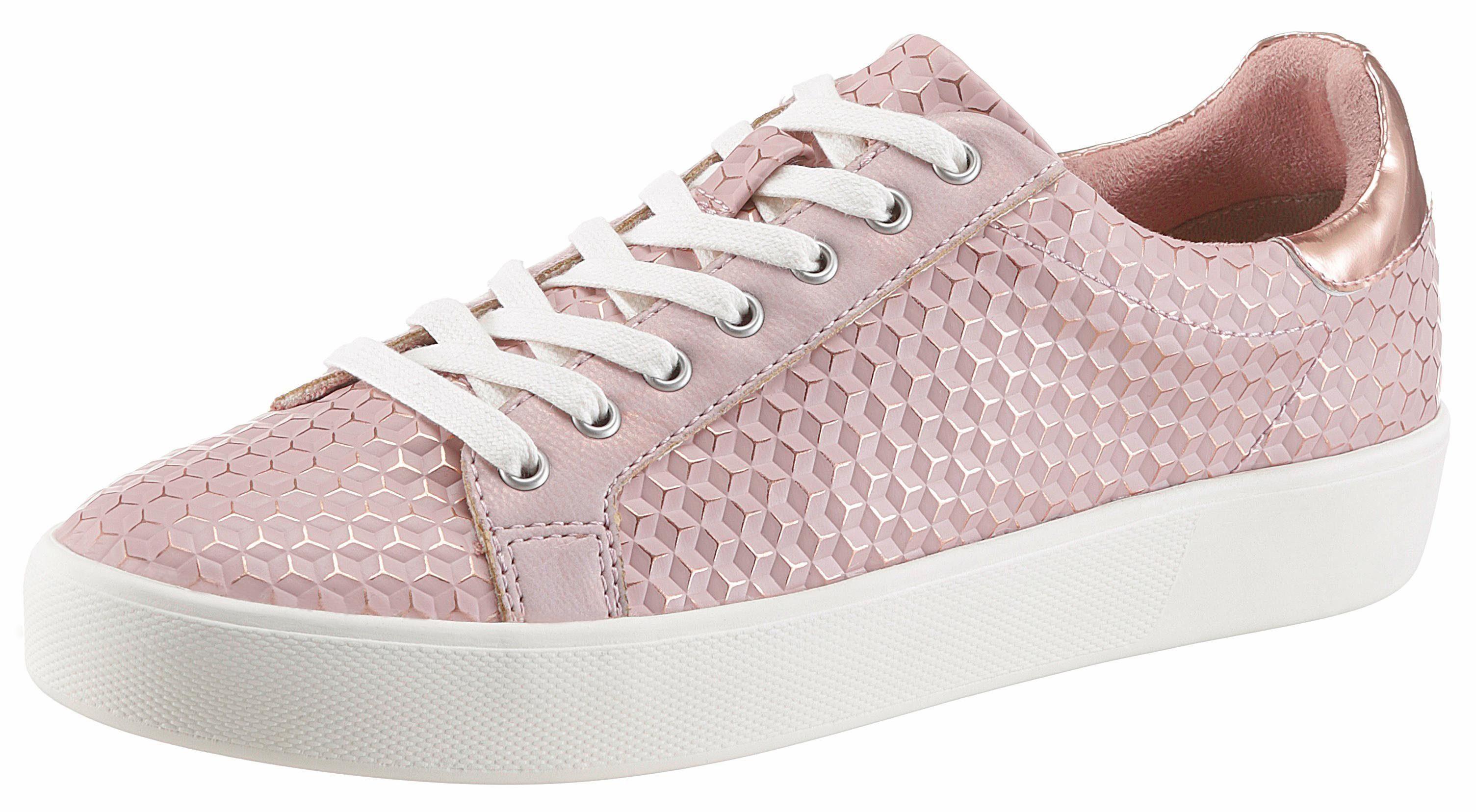 Tamaris Sneaker, in Snake-Optik, rosa, 39 39
