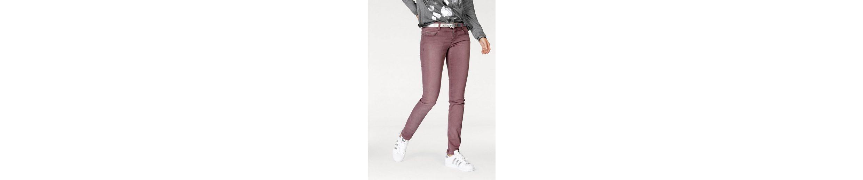 ZABAIONE Straight-Jeans NINA, mit Strassapplikation