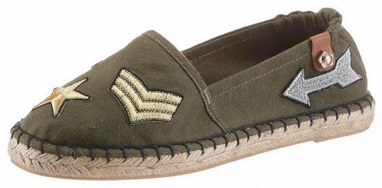 Tamaris Espadrille, With Trendy Patches