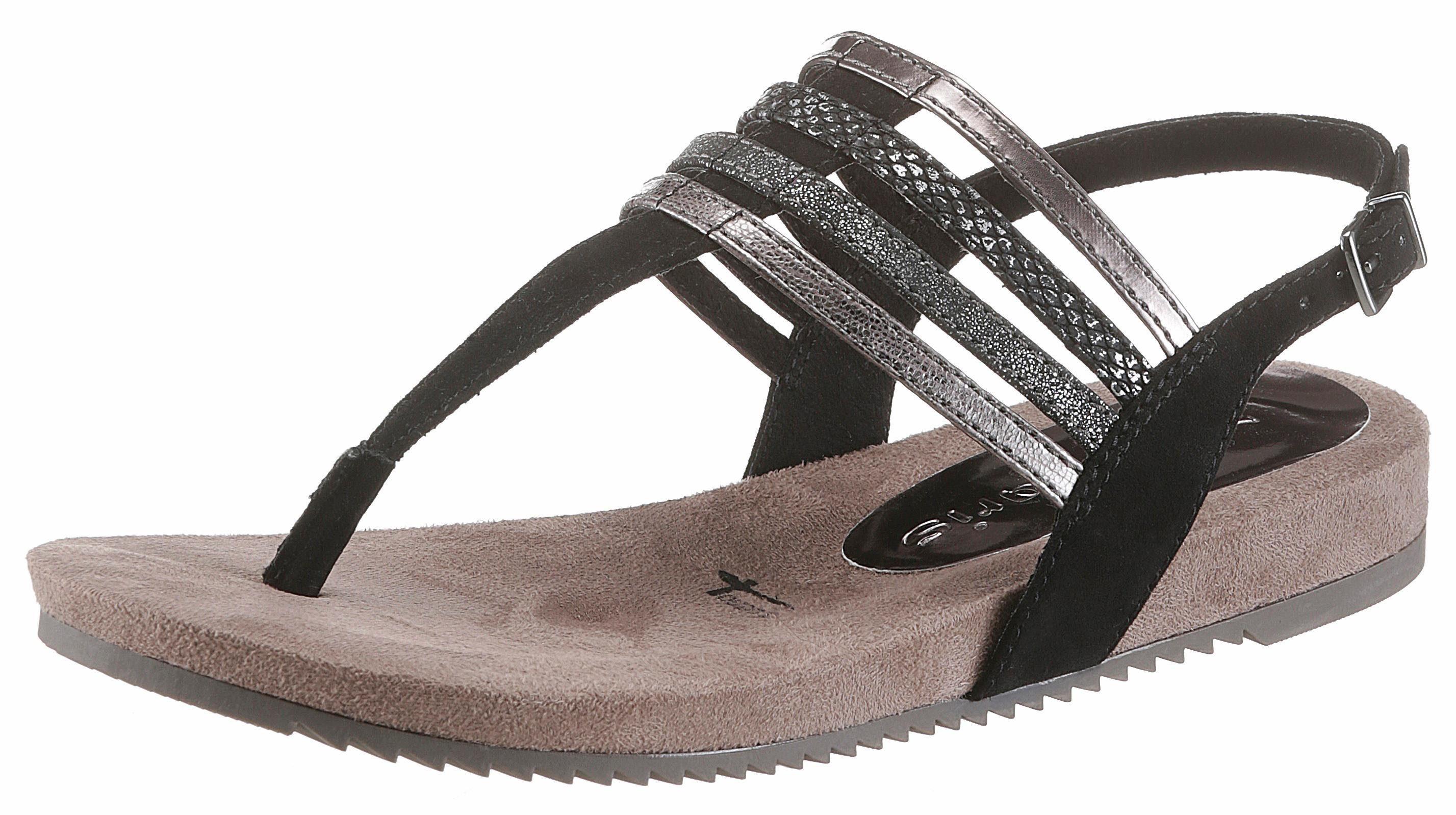 Tamaris Sandale, mit Zehensteg online kaufen  schwarz