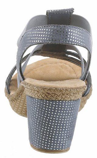 Rieker Sandalette, mit angesagter Schmuckapplikation