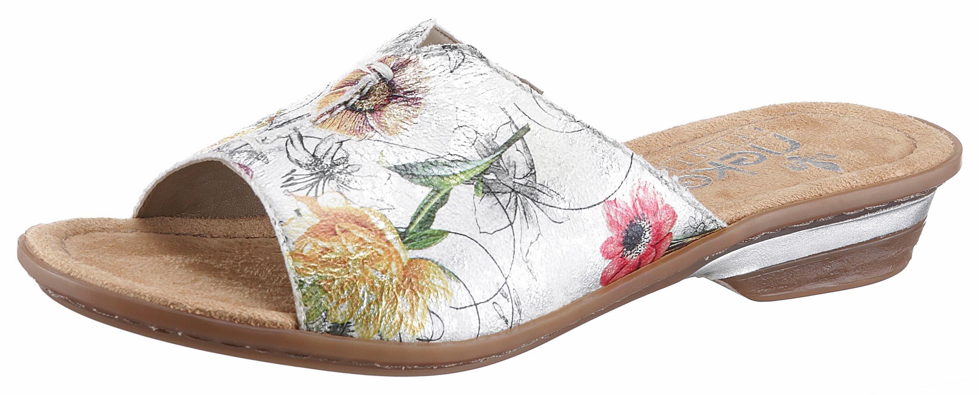 Rieker Pantolette, mit frühlingshaftem Blumenprint  ice-multi