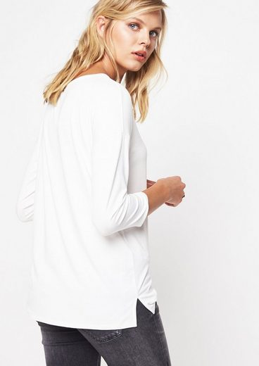 COMMA 3/4-Arm Jerseyshirt mit Statement-Stitch