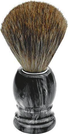 Erbe, »Rasierpinsel«, Dachshaar, grau marmoriert