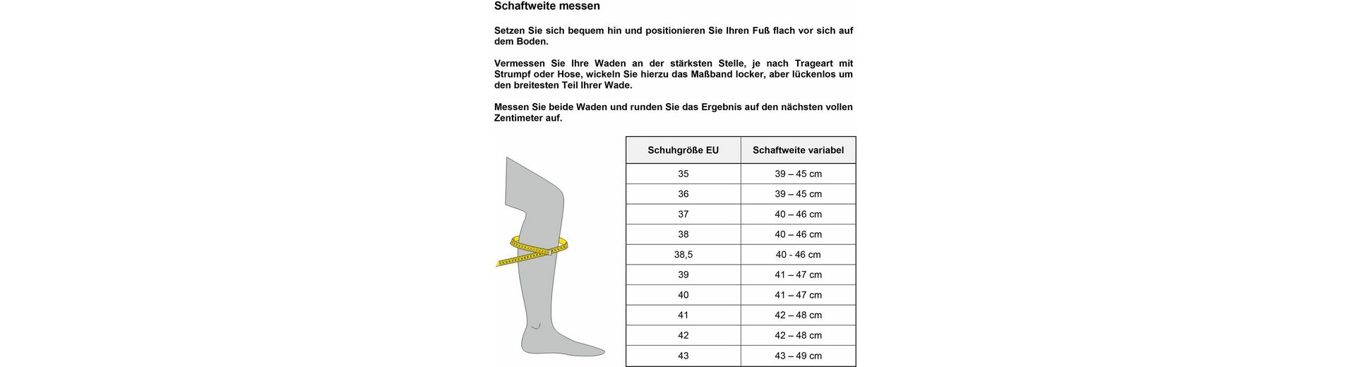 Gabor Stiefel, in Schuhweite G (weit)