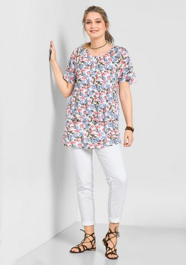 sheego Casual T-Shirt, Lagen-Optik