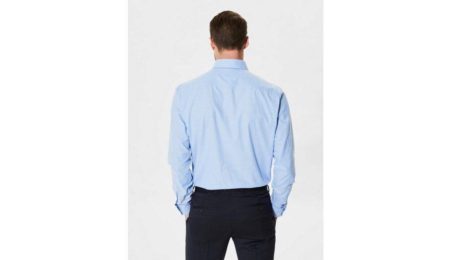 Selected Homme In schmaler Passform geschnittenes formelles Langarmhemd Auslauf Großer Verkauf Verkauf Online Großer Rabatt Gut Verkaufen aGa0qg1Bz