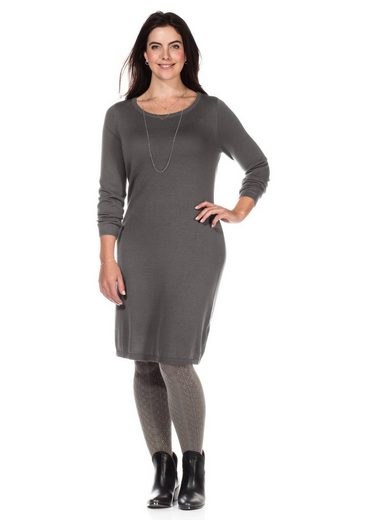 sheego Casual Strickkleid