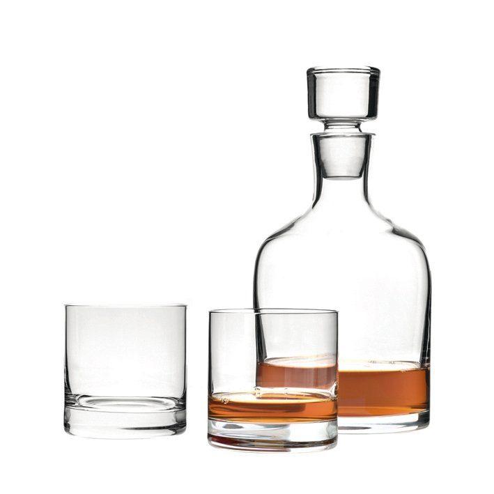 LEONARDO Set 3 Whiskykaraffe und Becher »Ambrogio«