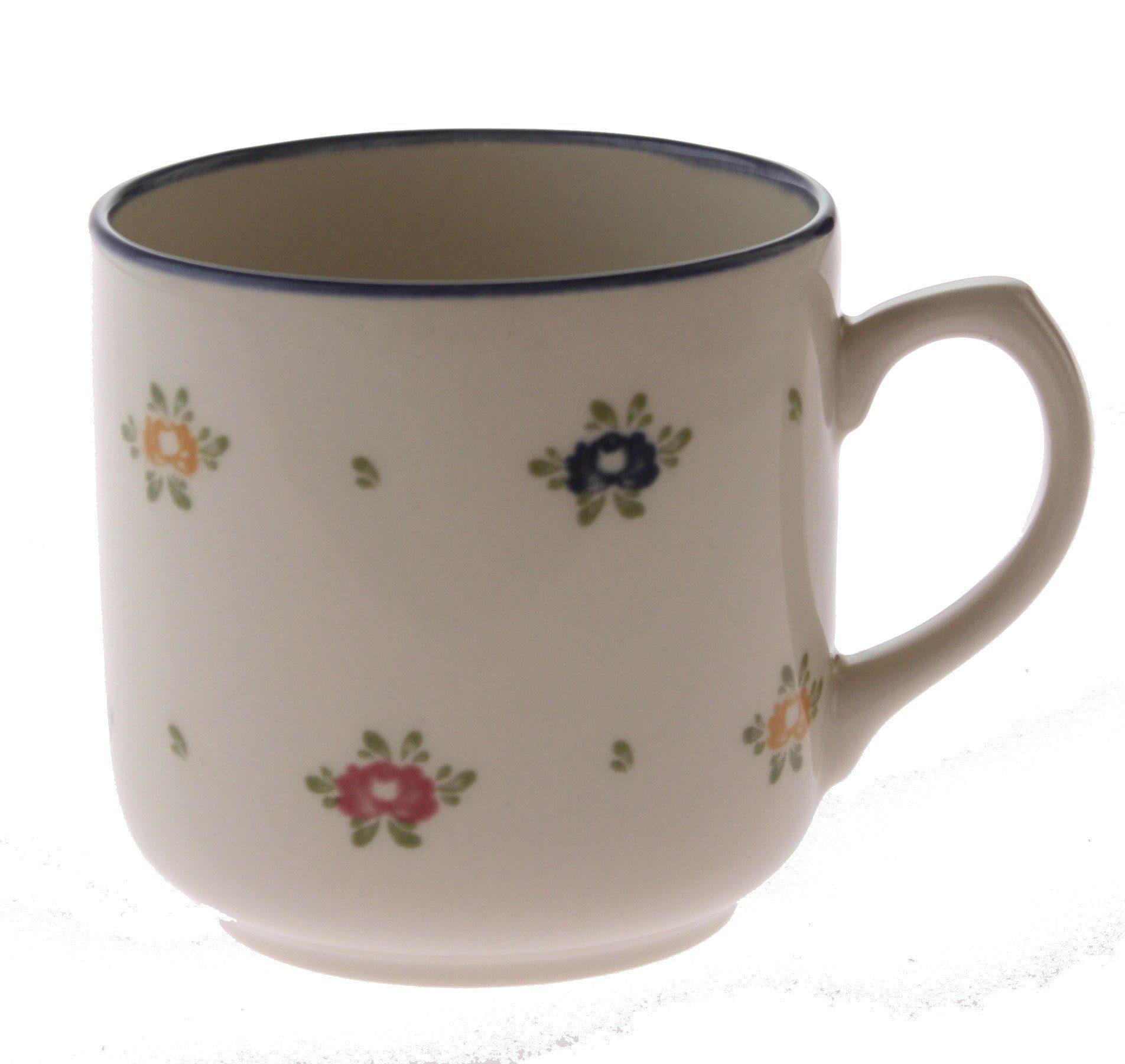 Zeller Keramik Kaffeebecher mit Henkel »Petite Rose«
