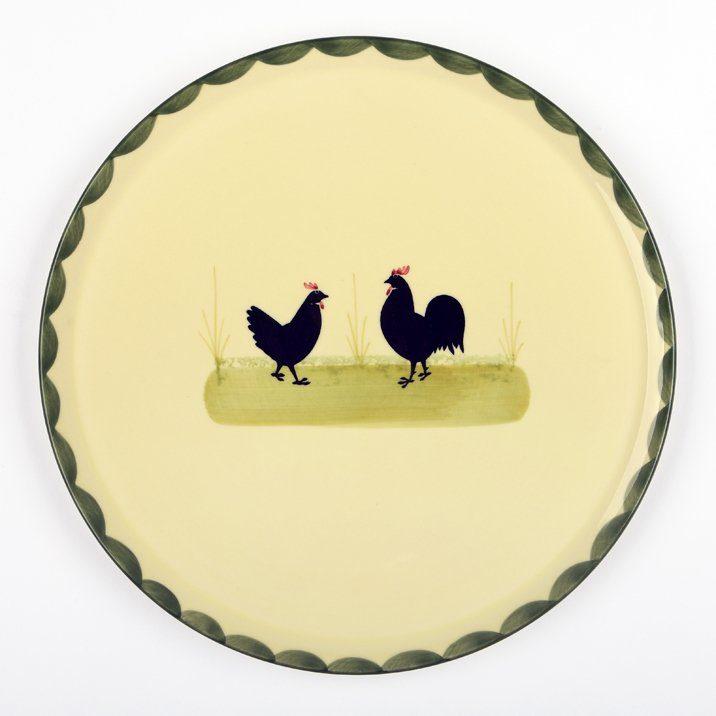 Zeller Keramik Tortenplatte »Hahn und Henne«