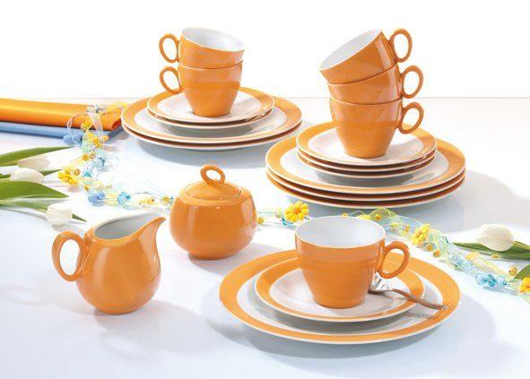 Seltmann Weiden Kaffeeservice »Trio Orange«