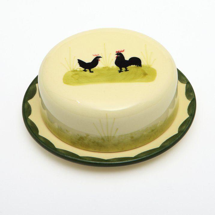 Zeller Keramik Zwiebeldose »Hahn und Henne«