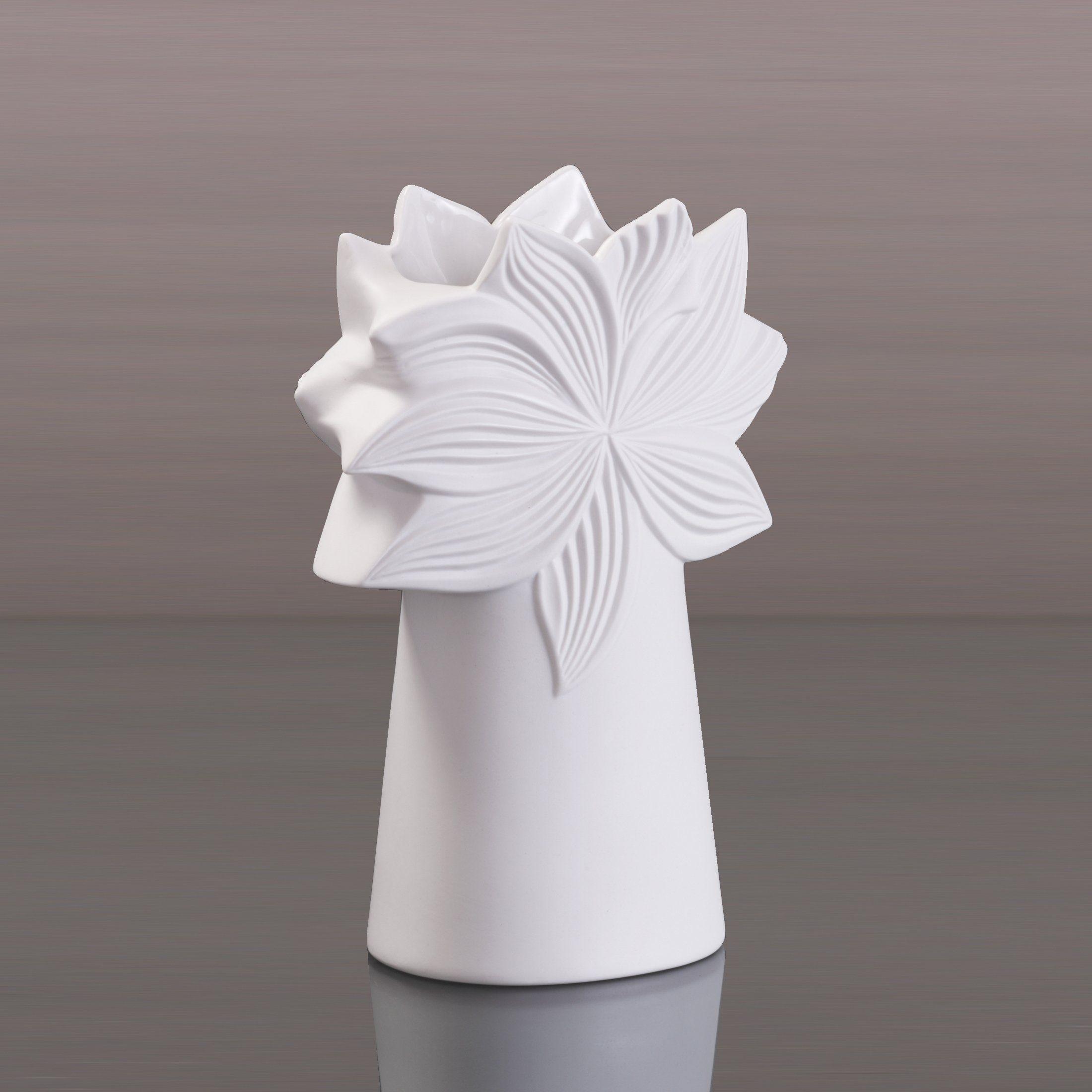 Kaiser Porzellan Vase Palmkrone hoch