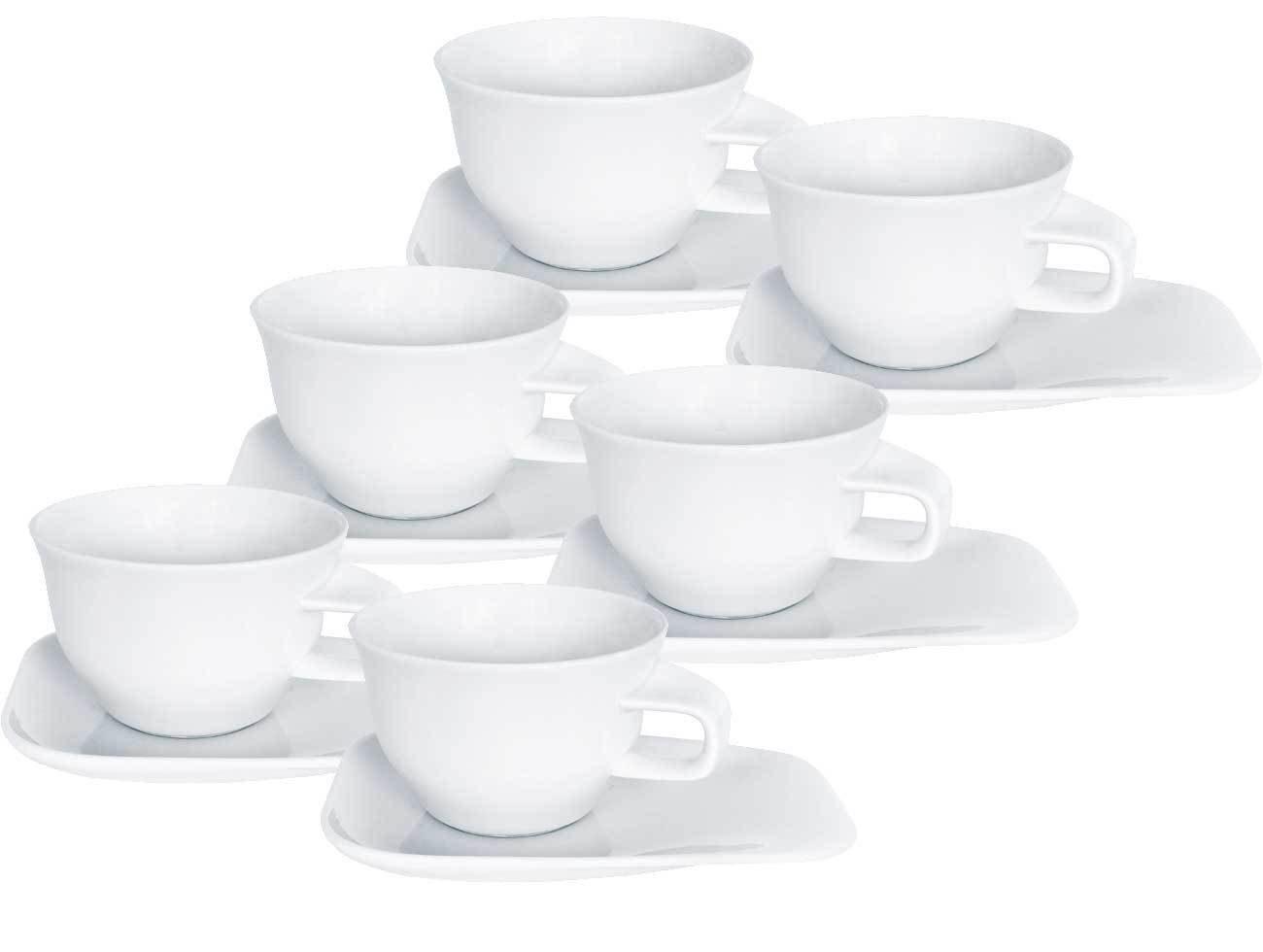 Kahla Café au lait-Tasse mit Untertasse 12-tlg. »Elixyr«