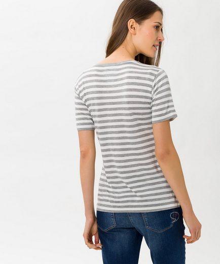 Brax Style Cora Stripe Shirt With Trendy Print