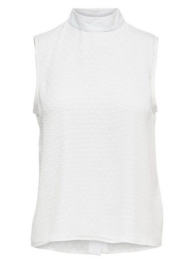 Jacqueline De Yong Round Collar Sleeveless Shell Without