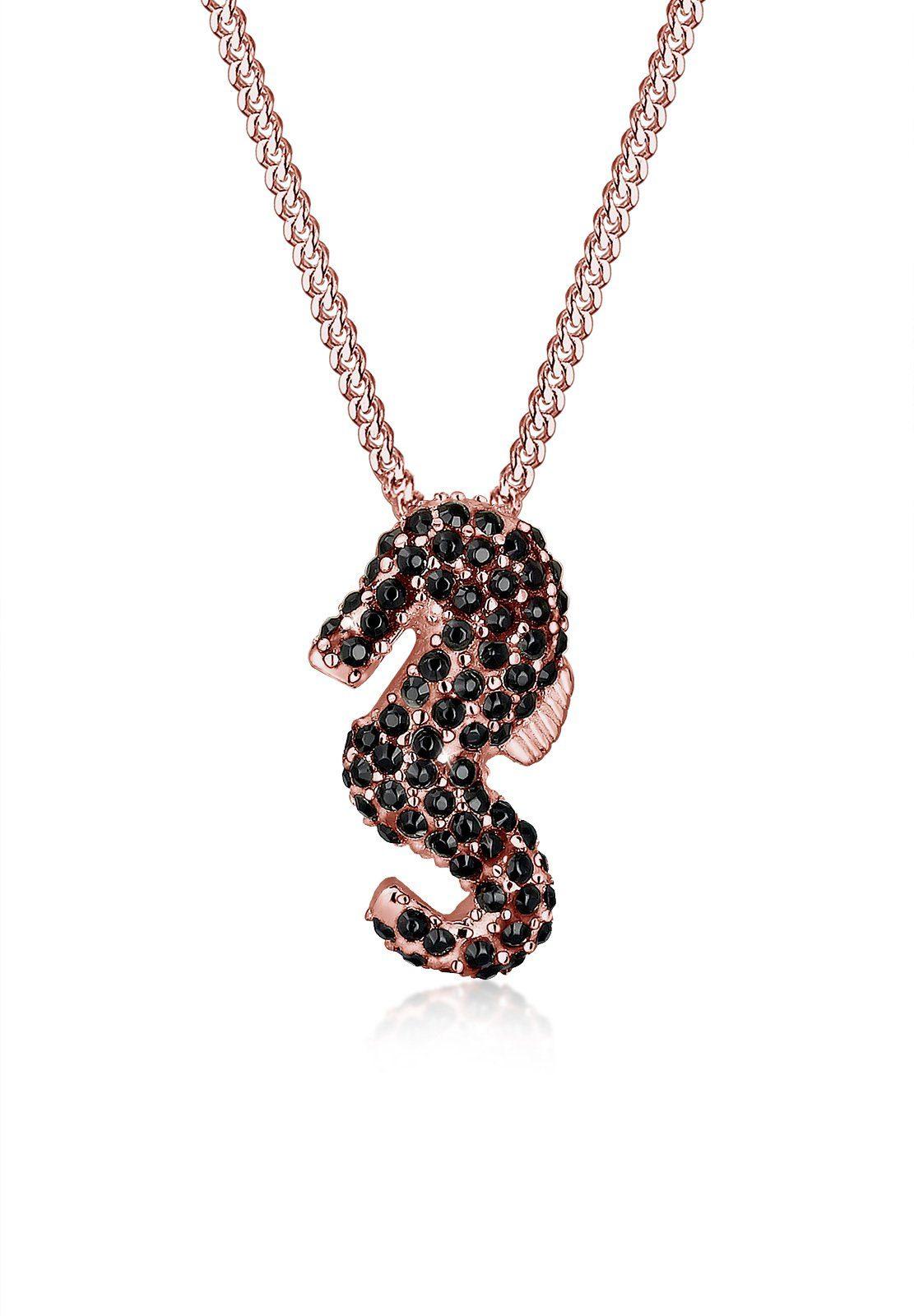 Elli Halskette »Seepferdchen Swarovski® Kristalle 925 Silber«