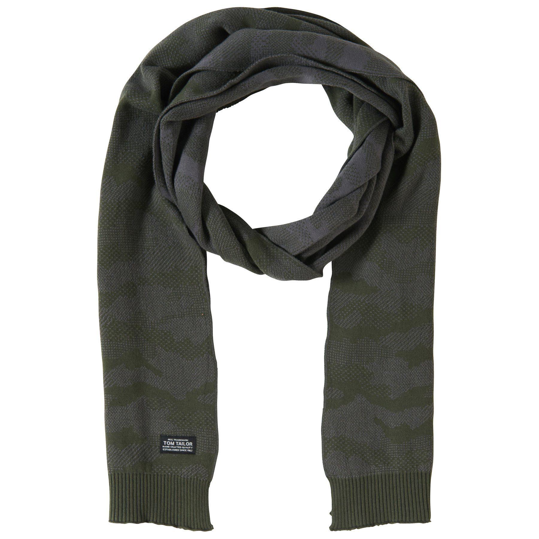 Tom Tailor Strickschal »Schal mit Camouflage-Muster«