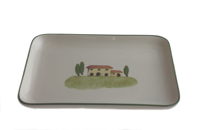 Zeller Keramik Platte eckig »Bella Toscana«