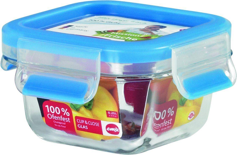 Emsa Frischhaltedose, 0,20 Liter »Clip & Close Glas«