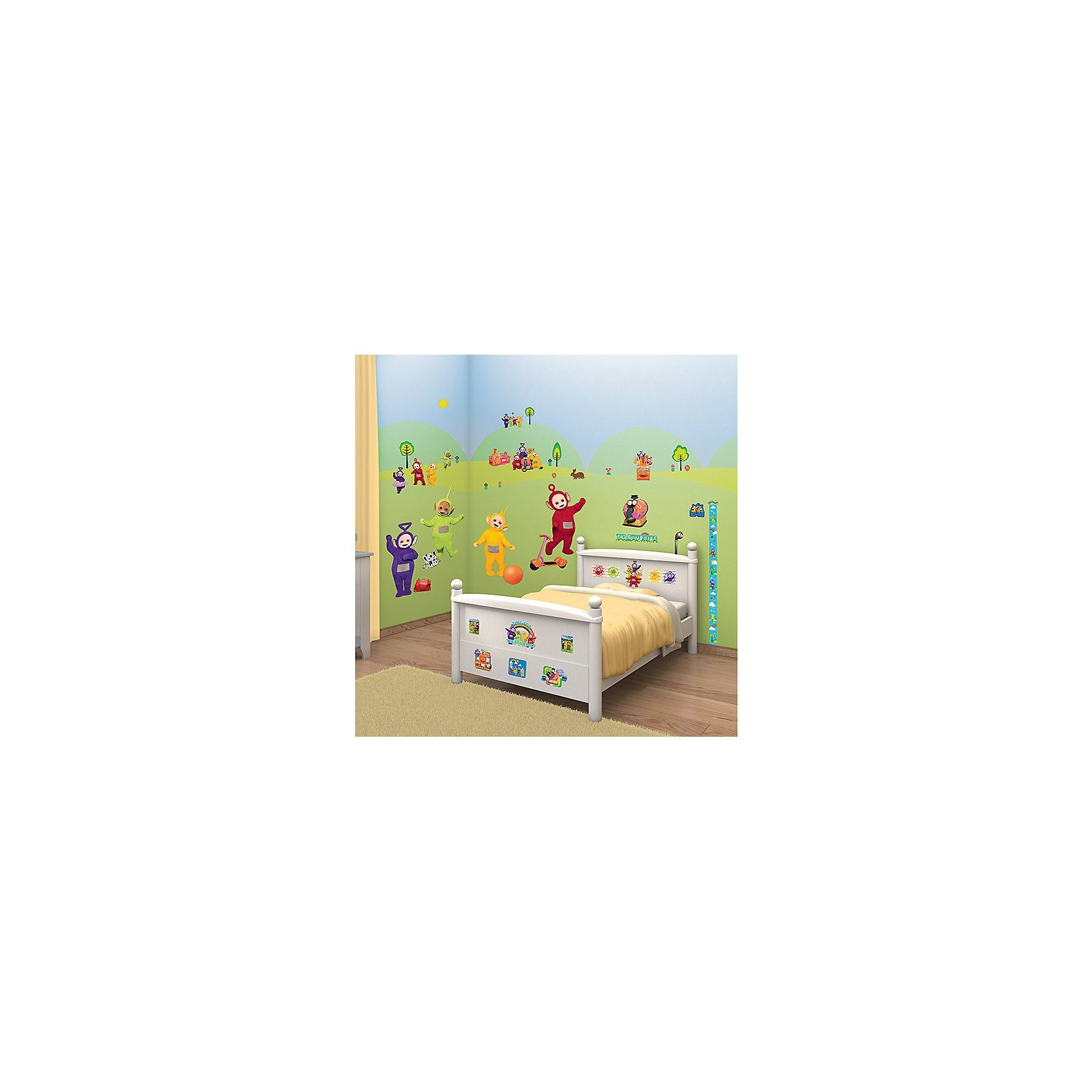 Walltastic Wandsticker inkl. Messlatte, Teletubbies