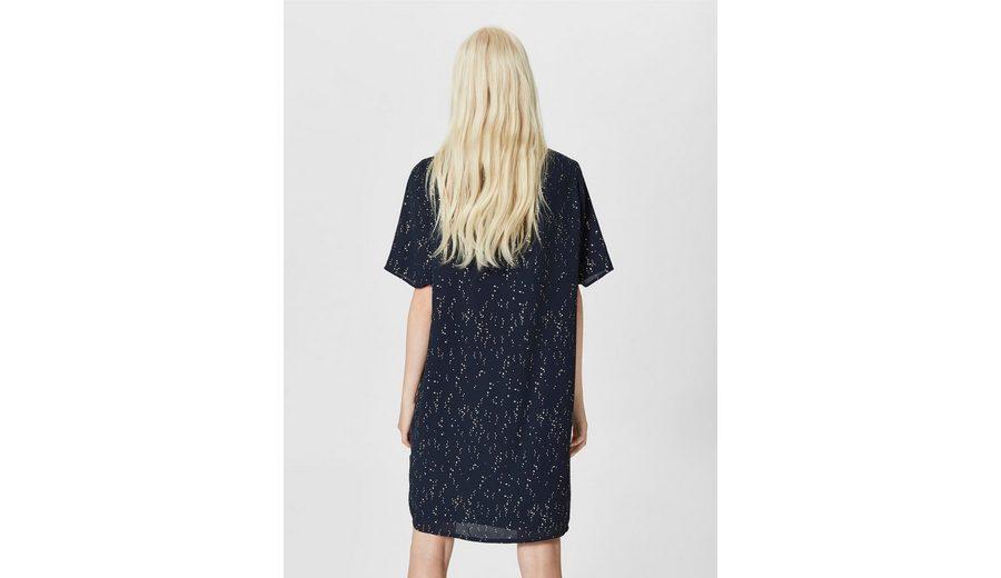 Verkauf Viele Arten Von Freies Verschiffen Countdown-Paket Selected Femme Print Kleid mit kurzen Ärmeln Rabatt Günstigsten Preis Billig Verkauf Niedrig Versandkosten 86tdzdpb