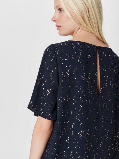 Selected Femme Print Kleid mit kurzen Ärmeln