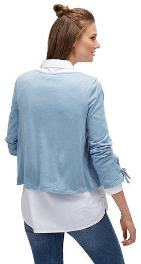 Tom Tailor Denim T-Shirt mit ausgestellten Ärmeln