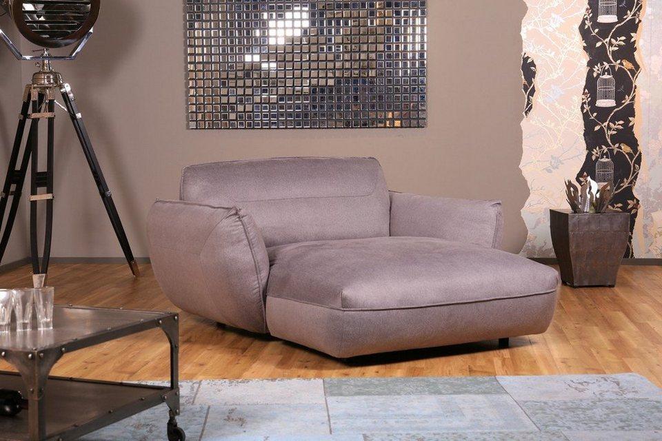 Kasper wohndesign longchair leder pallino cognac oder for Relaxsessel grau stoff