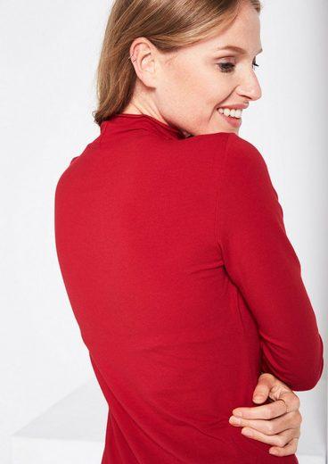 COMMA Jersey-Longsleeve mit Stehkragen